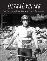 Volume 19-3 (summer 2010) - Ultra-Marathon Cycling Association
