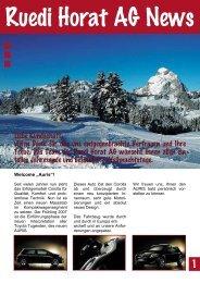 NEWS September 2006 - Ruedi Horat AG