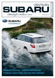 Bladet for Subaru-eiere - Subaru Norge