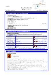 Sicherheitsdatenblatt - Louis Gnatz GmbH