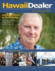 Congratulations to Tom Griffin - Hawaii Automobile Dealers ...