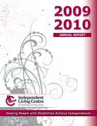 ANNUAL REPORT - Independent Living Centre of Waterloo Region