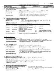 EG-SICHERHEITSDATENBLATT - Louis Gnatz GmbH