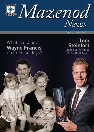Wayne Francis Tom Steinfort - Mazenod College