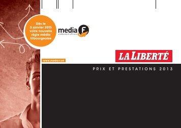 brochure tarifaire 2013 - media f