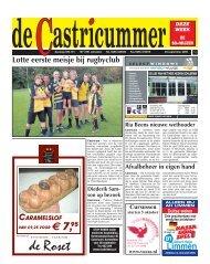 Lotte eerste meisje bij rugbyclub - De Castricummer