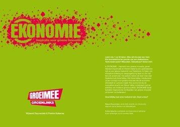 EKOnomie - Wetenschappelijk Bureau Groen Links - GroenLinks