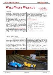 WILD WEST WEEKLY - Ausgabe 213 - Editorial ... - Rennserien-West