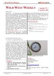 WILD WEST WEEKLY - Ausgabe 173 - Editorial ... - Rennserien-West