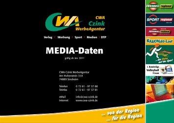 MEDIA-Daten - CWA Czink