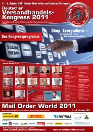 Versandhandels- Kongress 2011 Mail Order World 2011 - Neocom