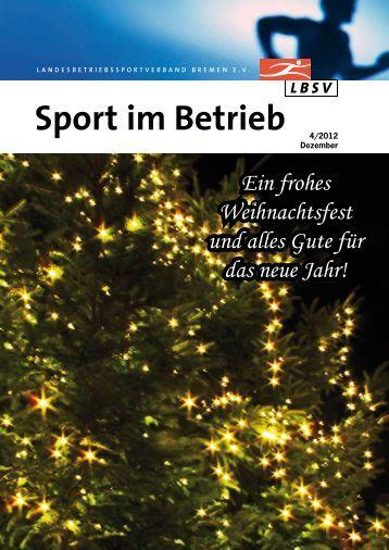 Sport im Betrieb - Landesbetriebssportverband Bremen eV