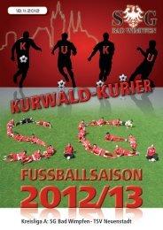 Kreisliga A: SG Bad Wimpfen - TSV Neuenstadt
