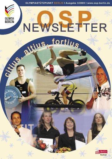 Newsletter 3-2005 - Olympiastützpunkt Berlin