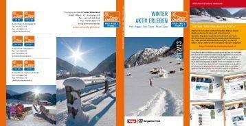 das Winter-Aktivprogramm 2012/13 des Tiroler - Hotel Linde