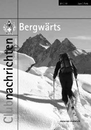 Bergwärts 01 - SAC Sektion Bodan