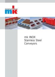 Catalog mk INOX Stainless Steel Conveyors - mk Technology Group