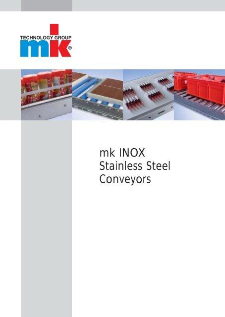 Catalog mk INOX Stainless Steel Conveyors - mk Technology Group