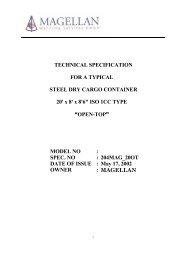 Technische Spezifikationen zum 20ft Open Top - Magellan-Maritime