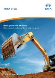 Lifting & Excavating sector brochure - English - Tata Steel in the ...