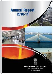 Annual Report 2010-2011 - Ministry of Steel