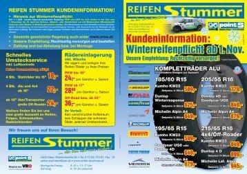da bin ich mir sicher! - Reifen Stummer GmbH