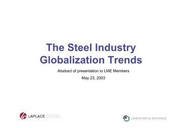 The Steel Industry Globalization Trends – Laplace Conseil - Company