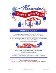 Page 1 of 9 Alexander Party Rentals 206-957-3861