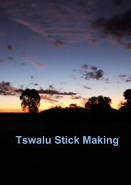 Tswalu Stick Making - Tswalu Kalahari
