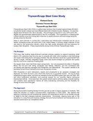 ThyssenKrupp Steel Case Study - Business Process Trends