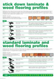 stick down laminate & wood flooring profiles standard laminate and ...