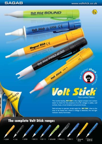 The complete Volt Stick range: - CIE-Group