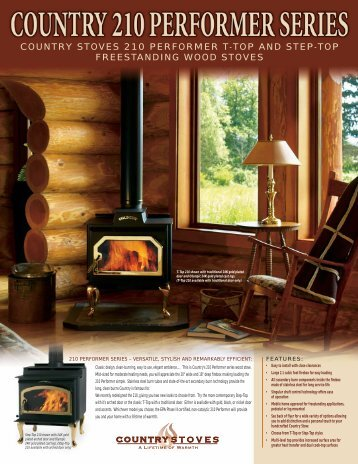 Country stoves 210 performer t-top and step - Fireside Stove ...