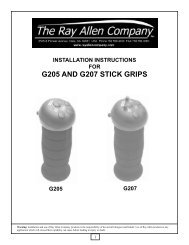 Stick grip instructions - the Ray Allen Company