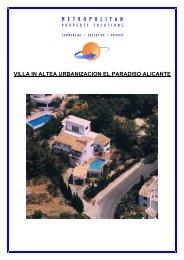 villa in altea urbanizacion el paradiso alicante - Metrelo.com