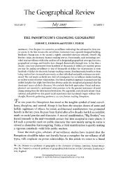 The Panopticon's Changing Geography - National Council for ...