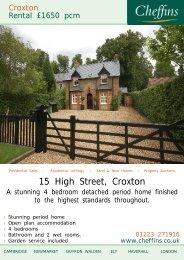 15 High Street, Croxton