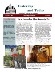 3rd quarter 2009 Newsletter - Historic City of Jefferson