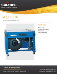 MODEL P100 - Samuel Strapping Systems