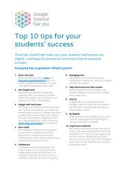 Top 10 tips for your students' success - Google