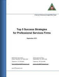 Top 5 Success Strategies for Professional Services Firms