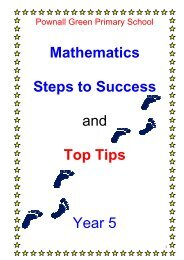 Mathematics Steps to Success and Top Tips Year 5 - Pownall Green ...