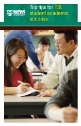 Top tips for ESL student academic success - Durham College