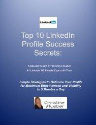 Top 10 LinkedIn Profile Success Secrets: