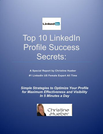 Top 10 LinkedIn Profile Success Secrets: