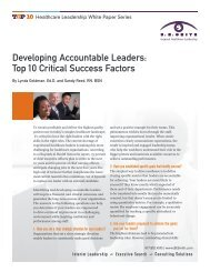Developing Accountable Leaders: Top 10 Critical Success Factors