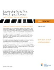 Leadership Traits That Most Impact Success - Right Management
