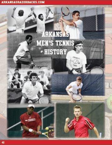 ARKANSAS MEN'S TENNIS HISTORY - ArkansasRazorbacks.com