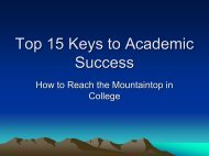 Top 15 Keys to Academic Success