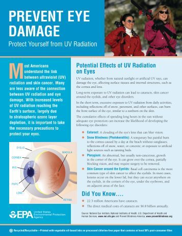 Prevent Eye Damage - US Environmental Protection Agency